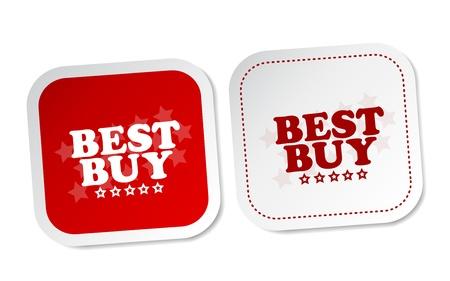 Best buy stickers Stock Vector - 18382320