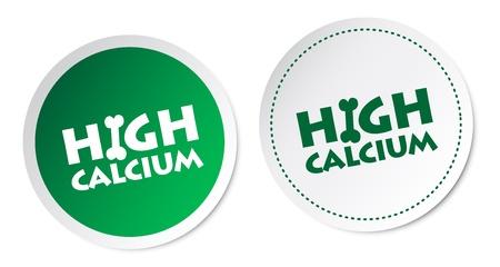 High calcium stickers Illustration