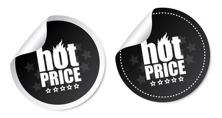 Hot price stickers Stock Vector - 18382328