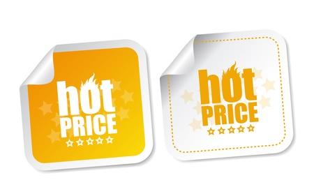 Hot price stickers Stock Vector - 18545378