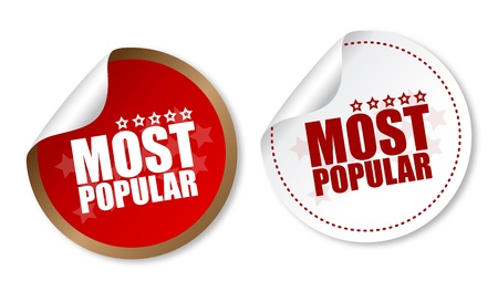 Most popular stickers Vector