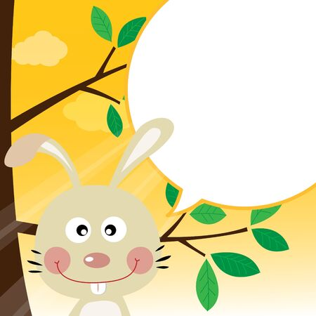 Rabbit speaking with a speech bubble Stock Vector - 18730935