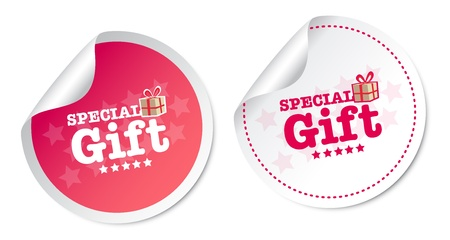 Special Gift Stickers Stock Vector - 18730945
