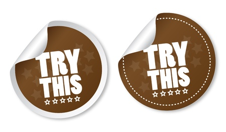 Try this stickers Stock Vector - 18731068