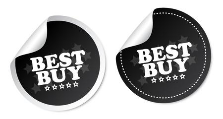 Best buy stickers Stock Vector - 19097508