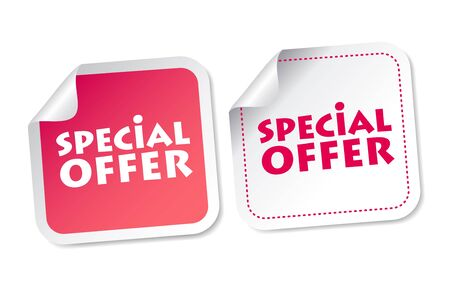 Special offer stickers Stock Vector - 19097510