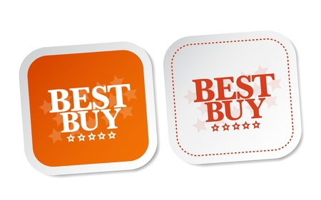 buy now: Best buy stickers Illustration