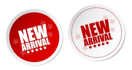 new products: New arrival stickers
