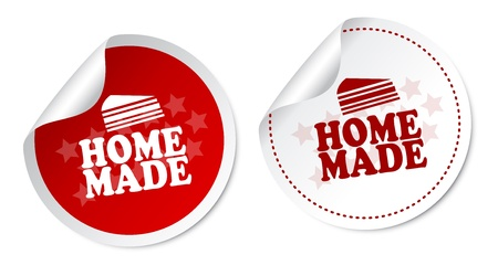 Home Made Stickers Vector
