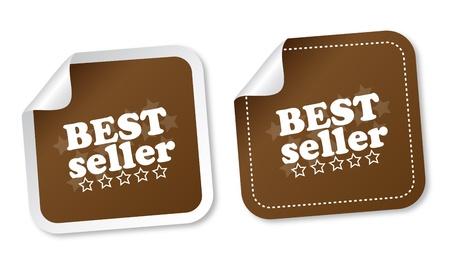 Best seller stickers Vector