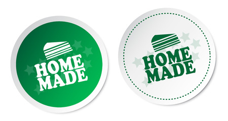 home made: Home Made Stickers Illustration