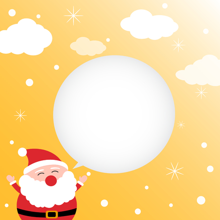 Christmas card with happy Santa Claus