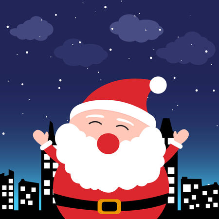 santa clause: Santa Claus in the city at night