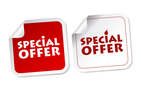 best price: Special offer stickers Illustration