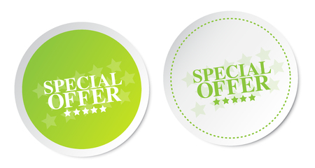 Special offer stickers Stock Vector - 29670899
