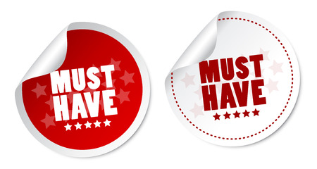 Must have stickers Vector