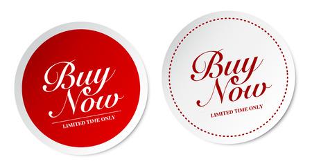 Buy now stickers Vector