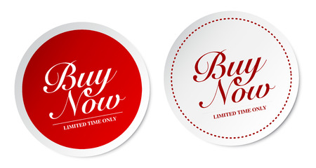 Buy now stickers Vector