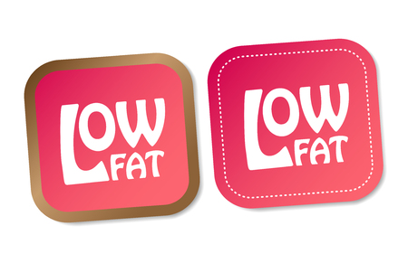 low cal: Low fat stickers Illustration
