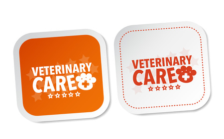 to care: Veterinary care stickers Illustration