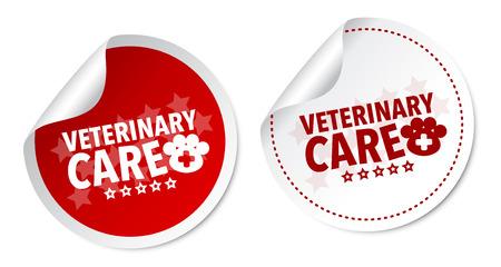 Veterinary care stickers Vector