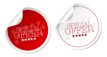 new product: Special offer stickers Illustration