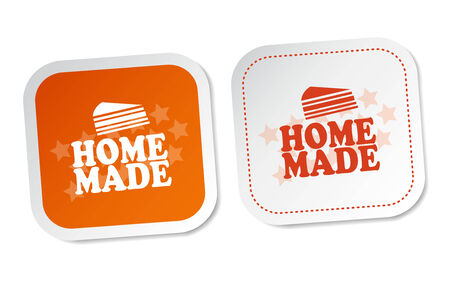 Home Made Stickers Illustration