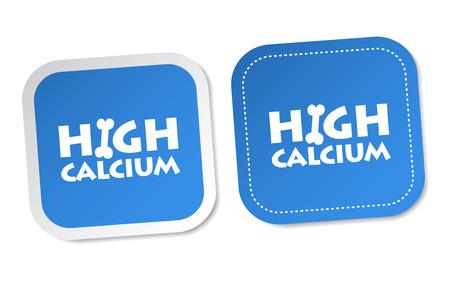 High calcium stickers Vector