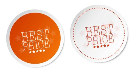product signal: Best price stickers Illustration