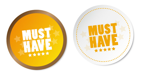 have: Must have stickers Illustration