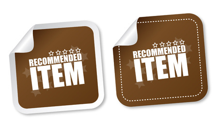 item: Item recommended stickers Illustration