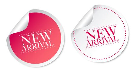 arrival: New arrival stickers