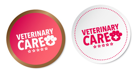 Veterinary care stickers Illustration