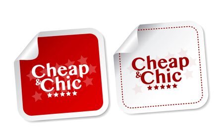 branded product: Cheap  Chic stickers