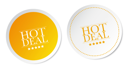 special offer: Hot deals stickers