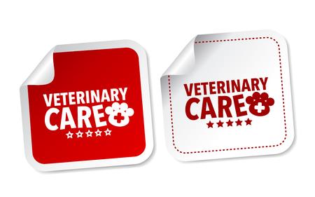Veterinary care stickers Illustration