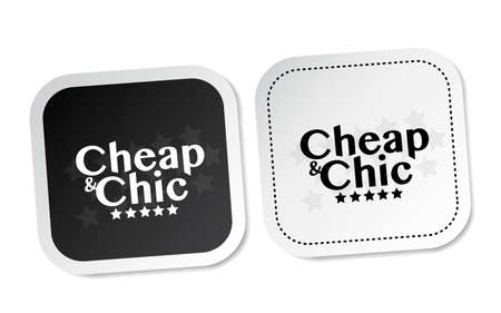Cheap and Chic stickers Illustration