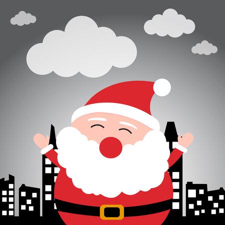 Santa Claus in the city Illustration