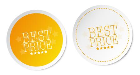 Best price stickers Illustration