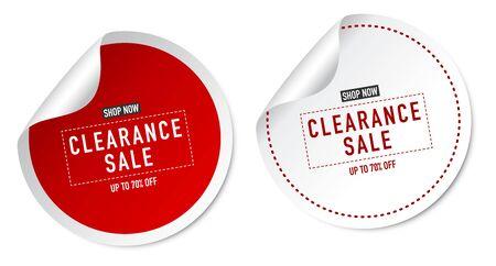 Clearance Sale Stickers Ilustração