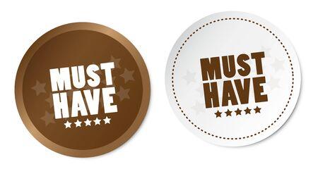 Must Have Stickers Foto de archivo - 135117992