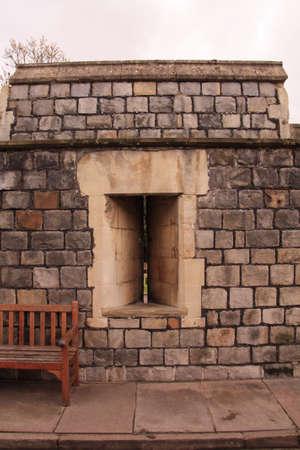 embrasure: The window embrasure Vindzdor, kingdom Stock Photo