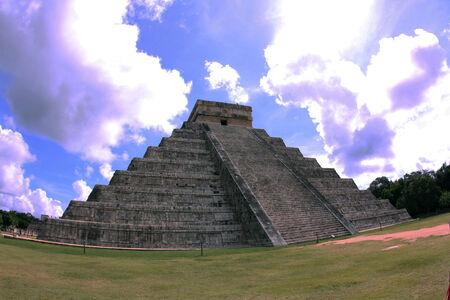 itza: Chicen Itza, the ruins of the Mayan Stock Photo