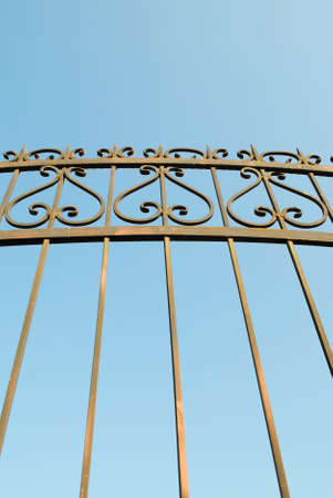 wrought metal fence 스톡 콘텐츠