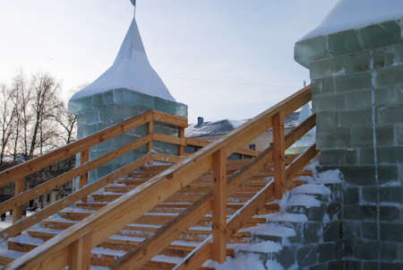 ice slide staircase 스톡 콘텐츠