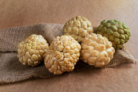 Group of Custard apples, The best of tropical fruits.