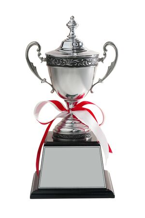 Grand trophy isolated on white background. This image stacked with clipping path for advertising ideas concept.