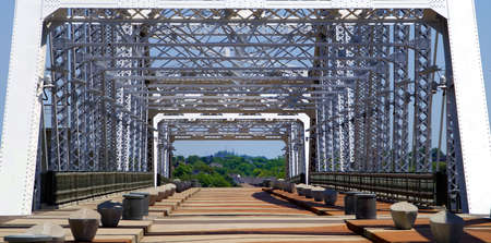 Iron bridge in Nashville Tennessee