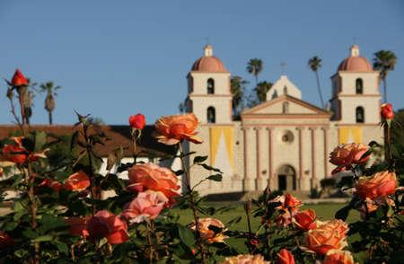 santa barbara: Mission flowers Santa Barbara