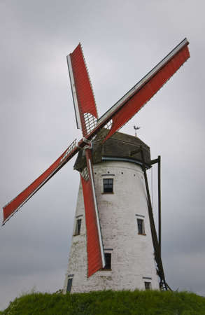 Windmill close-up in Damme Flanders